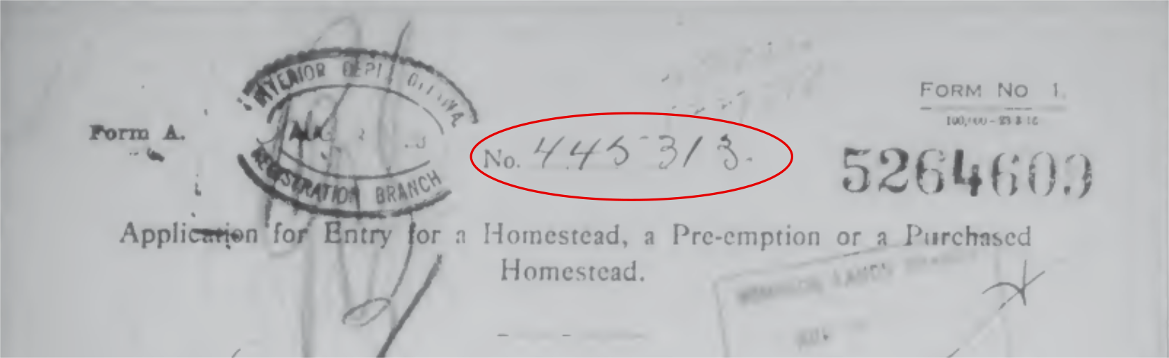 appplication for homestead