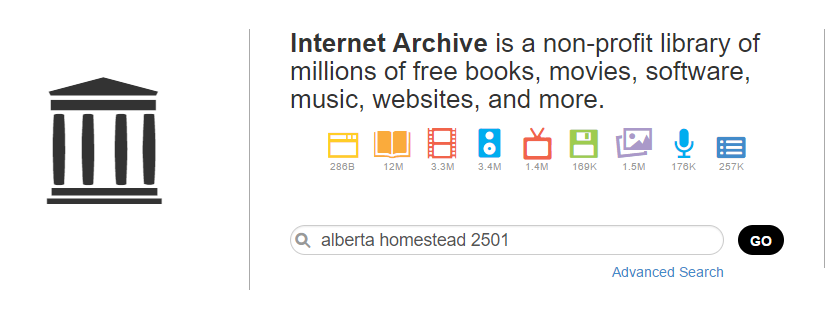 Index to Alberta Homestead Records 1870 to 1930