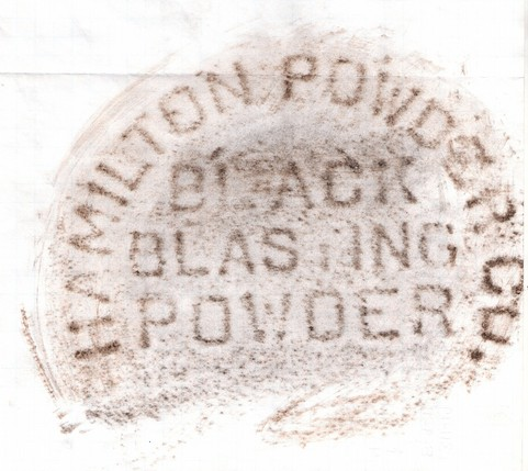 black blasting powder